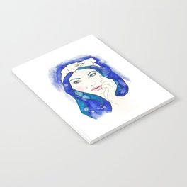 Blue Hair Don't Care Notebook