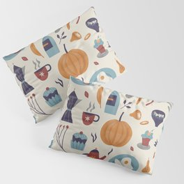 Autumnal food pattern Pillow Sham