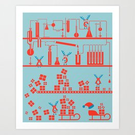 Reindeer Factory Art Print