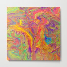 Unicorn psychedelic ice cream Metal Print