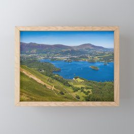 Lake Derwentwater in the English Lake District Framed Mini Art Print