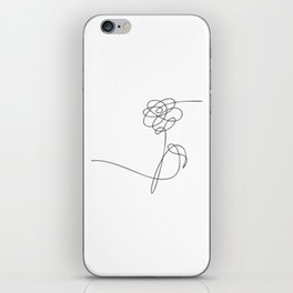 BTS Love Yourself Flower Lineart iPhone Skin