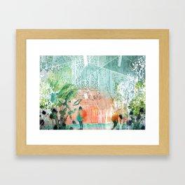 ArchiCollage - Secret Garden Framed Art Print
