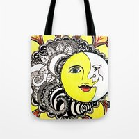 celestial Tote Bags featuring Celestial by SageBliss