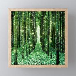 Magical Forest Green Elegance Framed Mini Art Print