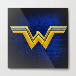Wonder W Golden Logo Metal Print