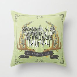 To Whatever End (Kingdom of Ash) Throw Pillow