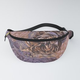 Vintage & Shabby-chic - floral purple roses flowers rose flower Fanny Pack