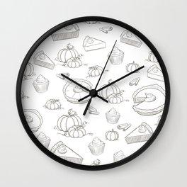 Autumn Food Wall Clock