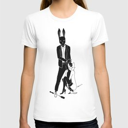 Mr Bunny and Catpurrrs lady T-shirt