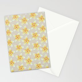Yellow Flower, Floral Pattern, Yellow Blossom Stationery Cards