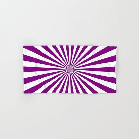 Starburst (Purple/White) Hand & Bath Towel