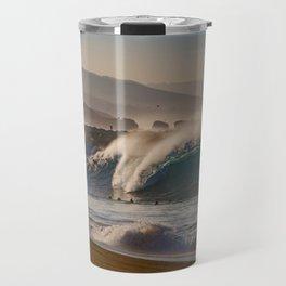 Wedge Blue Crystal Wave Travel Mug