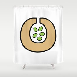 Ceramic Vessel with Beans Shower Curtain