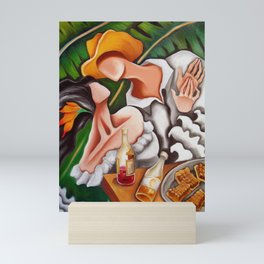 Party in countryside. Fiesta en el campo Mini Art Print