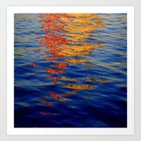 kobe Art Prints featuring Reflections on Kobe by Roberto C. Alamino