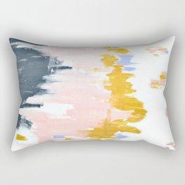 Multicolor spring abstract Rectangular Pillow