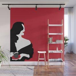 Red woman n1 Wall Mural