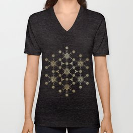 molecule of life. sacred geometry. alien crop circle Unisex V-Neck