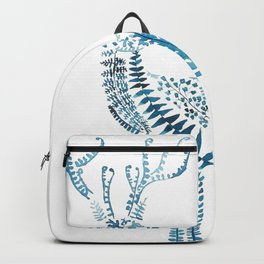 green deer watercolor Backpack