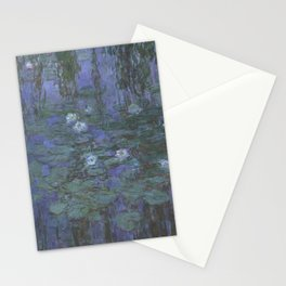 Blue Water Lilies Stationery Cards
