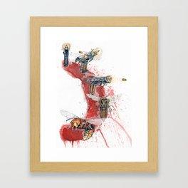 GUN SHOT ONE SHOT Framed Art Print