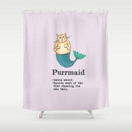 Purrmaid Shower Curtain