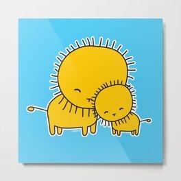 Lion Hug Metal Print