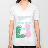 palm V-neck T-shirts featuring palm by 550am