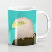 eagle Mugs featuring Eagle by Nir P