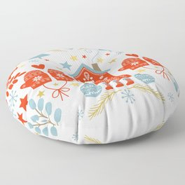 Laplander Winter Holiday Floor Pillow