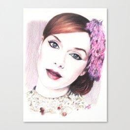 christina hendricks, beautiful vision... Canvas Print
