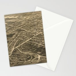 Vintage Pictorial Map of Asheville NC (1891) Stationery Cards