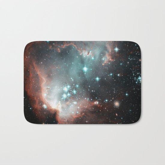 Nebula and stars Bath Mat