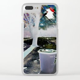 """Morning coffee"" Clear iPhone Case"