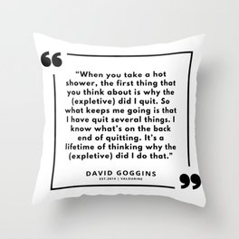 55  | David Goggins Quotes | 190901 Throw Pillow