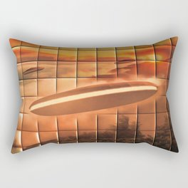 UFO Alien Ship Rectangular Pillow