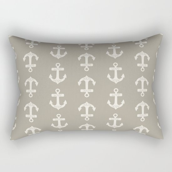 Anchor Alabaster Blue Gray Rectangular Pillow