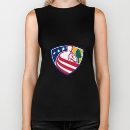 American Rugby Union Player Badge Biker Tank