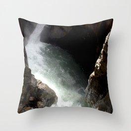 Rainbow at Box Canyon Falls Throw Pillow
