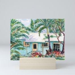 Tropical Vacation Cottage Mini Art Print