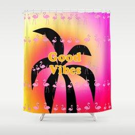 Good Vibes Palm Tree Shower Curtain