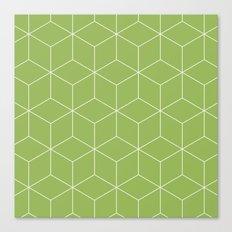 Cubes Greenery Canvas Print