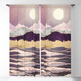 Lunar Waves Blackout Curtain