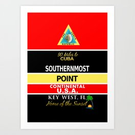 Key West Southernmost Point Buoy Art Print