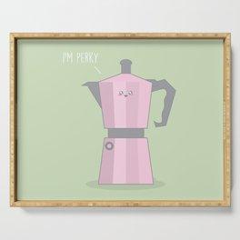 I'm Perky #kawaii #coffee Serving Tray