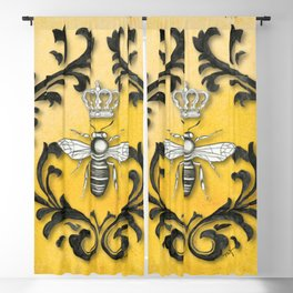 Damask Bee Blackout Curtain