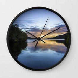 Llyn Padarn Sunset Wall Clock