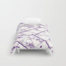 I heart geo Purple Comforters