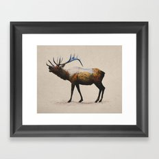 The Rocky Mountain Elk Framed Art Print